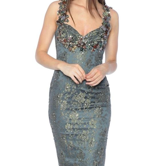 Mandalay Dresses & Skirts - Mandalay Smoke Cocktail Dress with stones
